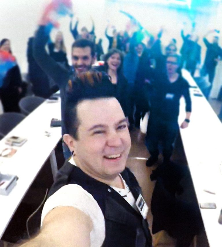 Janne Mustonen Workshop-selfie